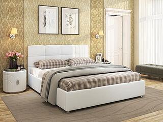 Кровать Жаклин Экокожа Ideal 301 Белый
