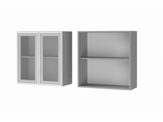 Шкаф 2-дверный со стеклом 7В2 МДФ ШхВхГ 700х720х310 мм