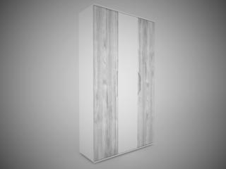 Шкаф 3-х створчатый Соренто Белый-МДФ Рамбла ШхВхГ 1200х2132х450 мм