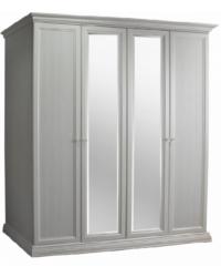 Спальня Амели Ярцево Шкаф 4-х створчатый для платья и белья 2 зеркала ШхГхВ 1880х630х2370