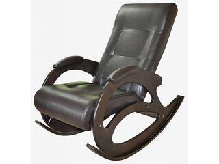 Кресло-качалка К 5-3 кожзам коричневый