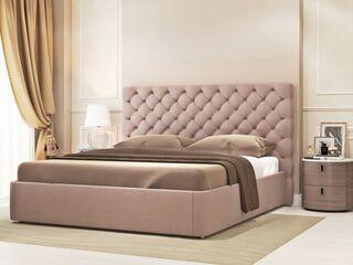 Кровать Эстель Велюр Какао с подъемным механизмом